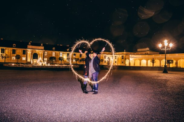Christmas Marriage Proposal in Vienna