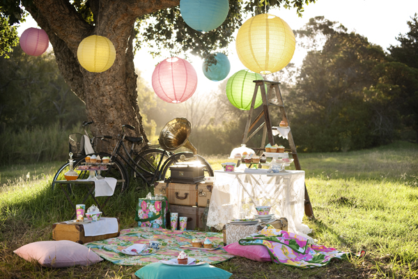 We would create the perfect proposal atmosphere with a home made picnic and vintage props
