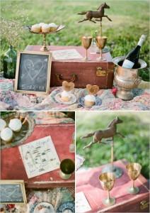 A vintage picnic oozes romance