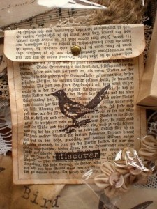 Present her with gift bags made from old book pages. Inside are love notes you've written yourself