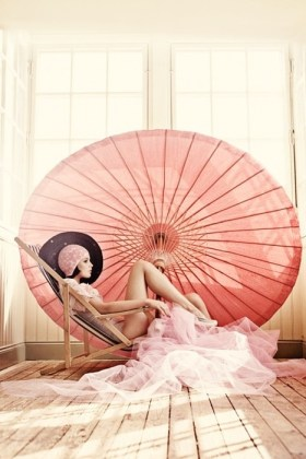 Stunning vintage parasols can decorate the area