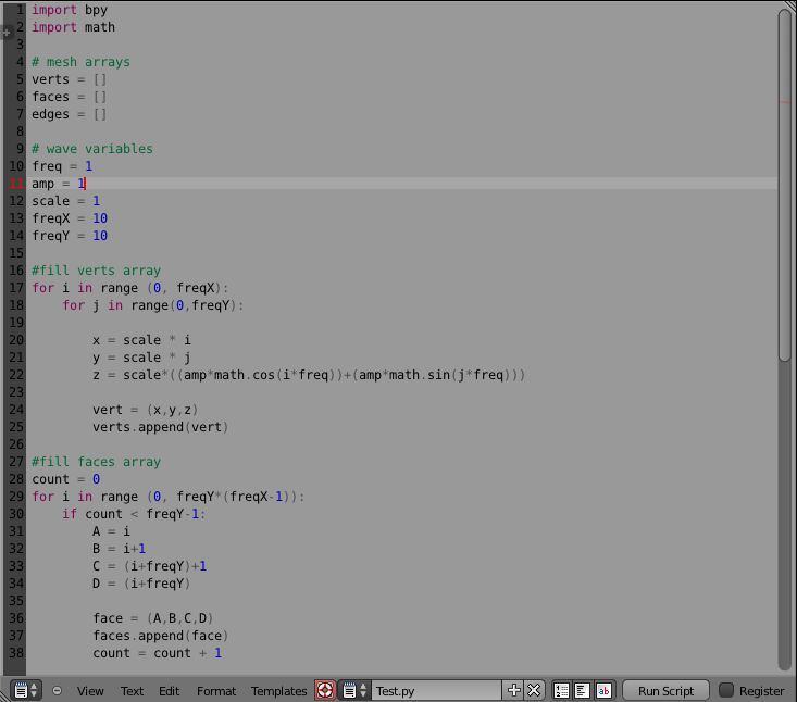 Blender Python Scripting Environment THE PROVING GROUND