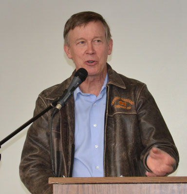 Governor Hickenlooper, During Earlier Lamar Visit