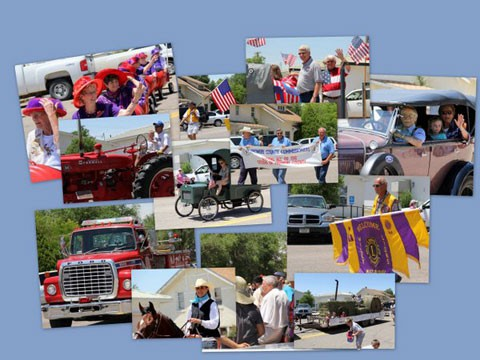 Montage of Prior Wiley Hay Day Celebrations