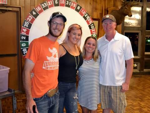 Lisa Carder and Kole Schwarze with Top Winner Troy Branom and Brandy Branom