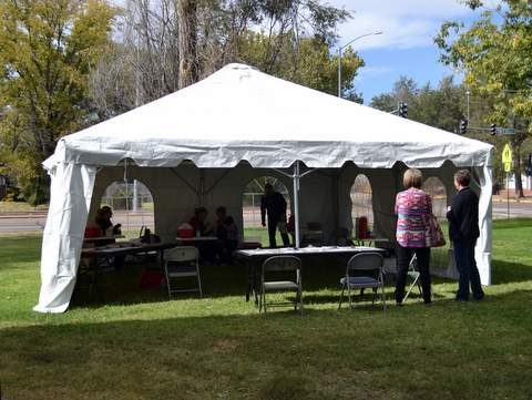 Flu Tent at County Annex