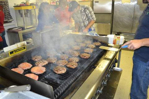 Burgers on the Grill for Veterans Appreciation Lunch