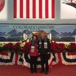 "Senator Crowder Attends Christening of Submarine ""Colorado"""