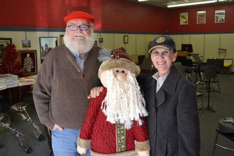 Santa, Santa and Judy Turpin