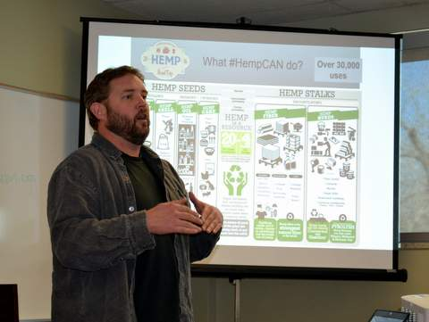 Rick Trojan, Hemp Farmer and Presenter at Seminar