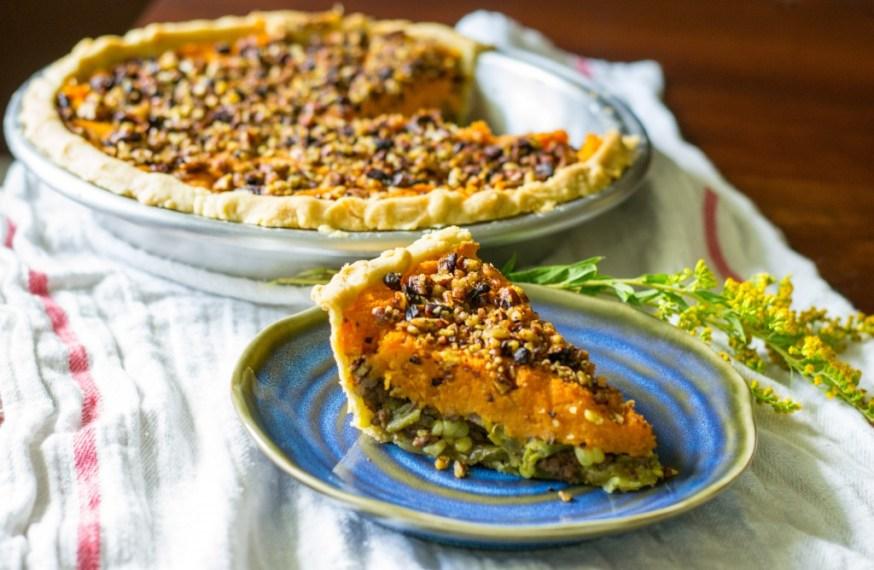 Sweet Potato Shepherd's Pie w/ Curry Spiced Pecans