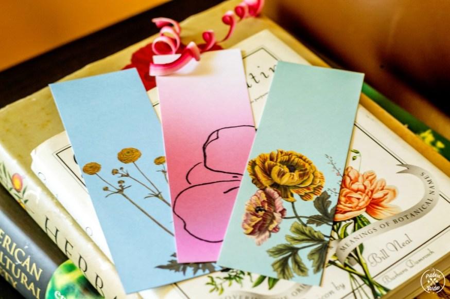Free Botanical Bookmarkers