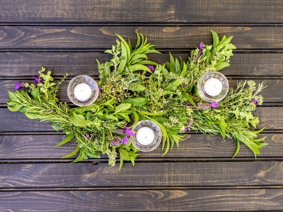 How to Make an Herb Garland Centerpiece