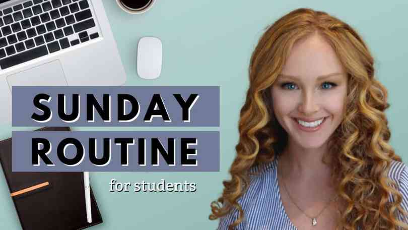 Sunday routine for students
