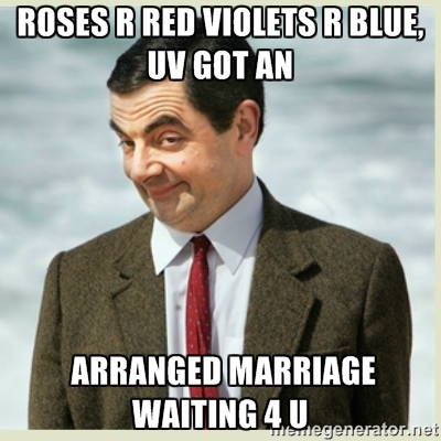 arranged marriage meme waiing for you