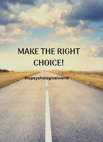 Make the right choice!