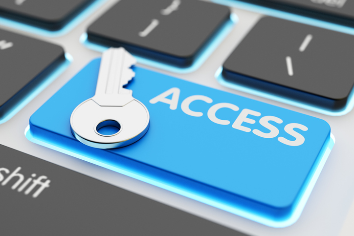 Safety data access, computer network security, accessibility and authorization concept