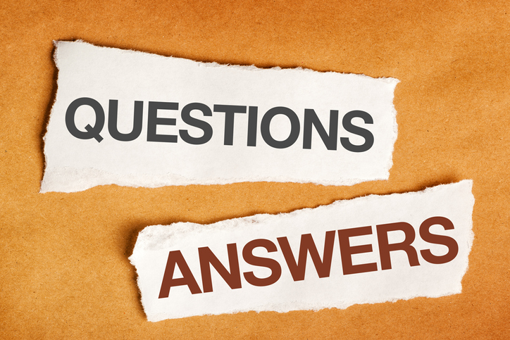 Questions and answers on scrap paper