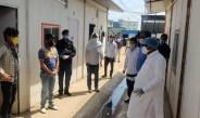 श्रम राज्य मंत्री अनूप धानक ने गुरुग्राम के कंस्ट्रक्शन साइट का दौरा किया, श्रमिकों से की पूछताछ