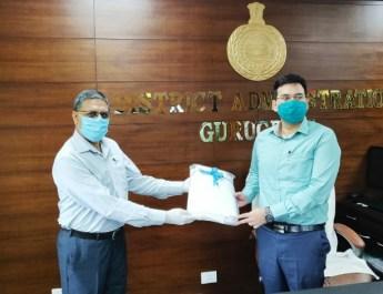 मारुति सुजुकी इंडिया लिमिटेड ने गुरूग्राम जिला प्रशासन को दिए उच्च गुणवत्ता की 2500 पीपीई किट