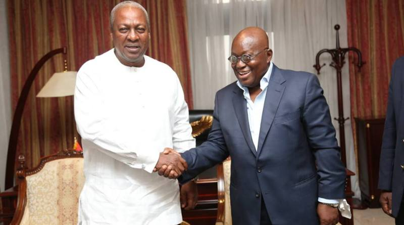 Nana Addo with Mahama