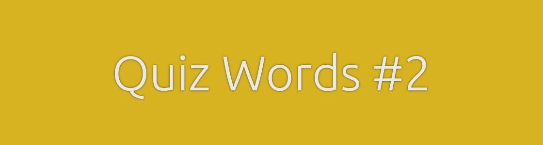 Quiz Words Crossword