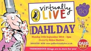 Puffin Virtually Live: Roald Dahl Day 2014. September 2014. This whipple-scrumptious event celebrated 50 years of Charlie & the Chocolate Factory. The event was beamed live from The Theatre Royal Drury Lane and showed why Roald Dahl is still so special today. Watch at http://bit.ly/1xvbmjf