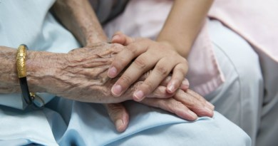 old hand young hand, visiting hours, aged care, hospital