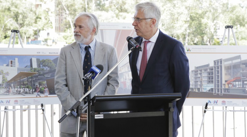 The Children's Hospital at Westmead chief executive Michael Brydon with WSLHD board chair Richard Alcock.