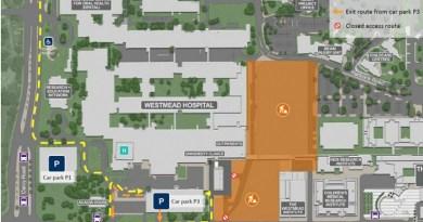 Hospital Road Westmead closure