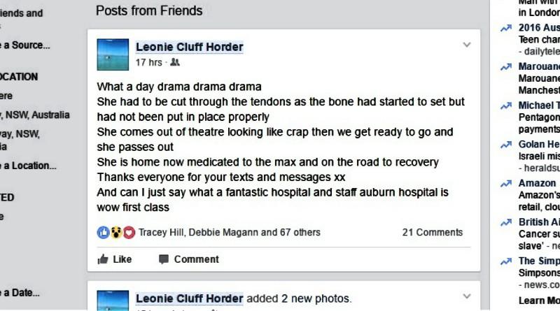Thankyou post to Auburn Hospital