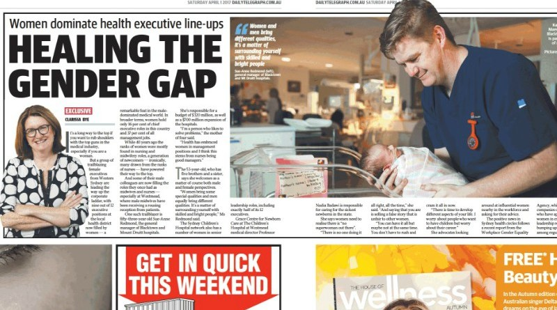 A Daily Telegraph story highlighted the senior women in the WSLHD workforce, including Blacktown and Mount Druitt general manager Sue-Anne Redmond.
