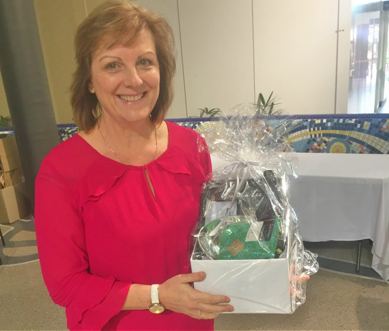 Blacktown Hospital social worker Carol Norman was the winner of one of two hampers donated by Arab Bank. Anyone who booked an event during the Wellbeing Festival went into the draw.