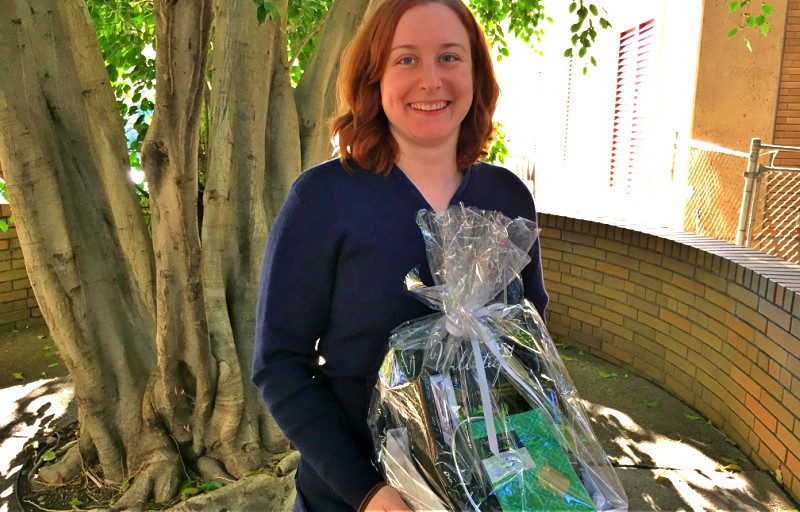 Clinical nurse consultant Catherine Hardman was the winner of one of two hampers donated by Arab Bank to the Wellbeing Festival.