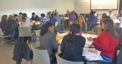 Participants brainstorm at the BMDH half-day research workshop.
