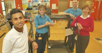 Westmead Hospital's physiotherapy team Christian Segaram, Katherine Maka, Gerard Regan and Maria Quinlivan.