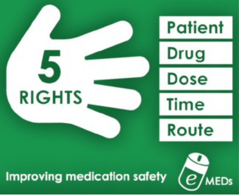 The 5 Rights of medication safety have been promoted at Auburn Hospital.