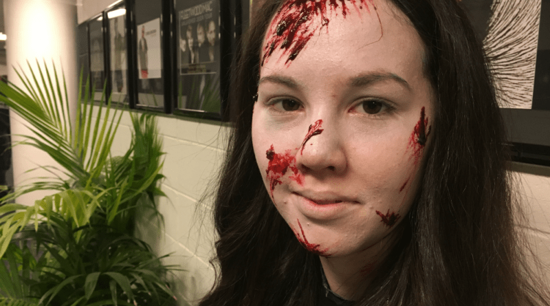 Actor Jessica Lawrence, who played the deceased passenger Grace in the 2017 bstreetsmart simulation.