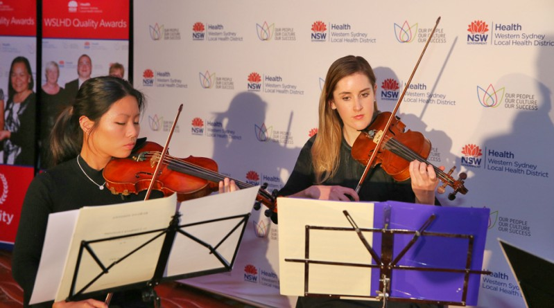 The Westmead quartet at the WSLHD 2017 Quality Awards.