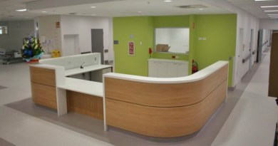 The A3a staff station. The ward will be the new home of the Gastroenterology Comprehensive Care Clinic.