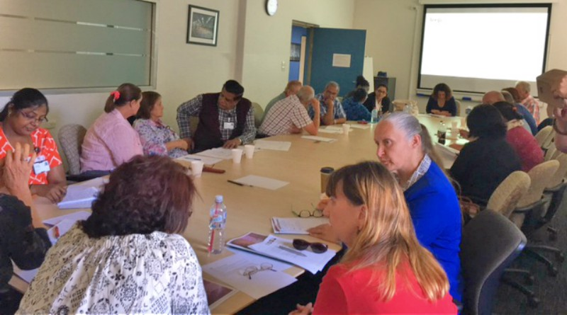 Volunteers from Blacktown and palliative care at the counselling training day.