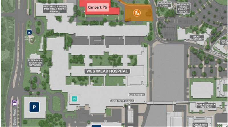 Car park P6 at Westmead Hospital will close until mid-November.