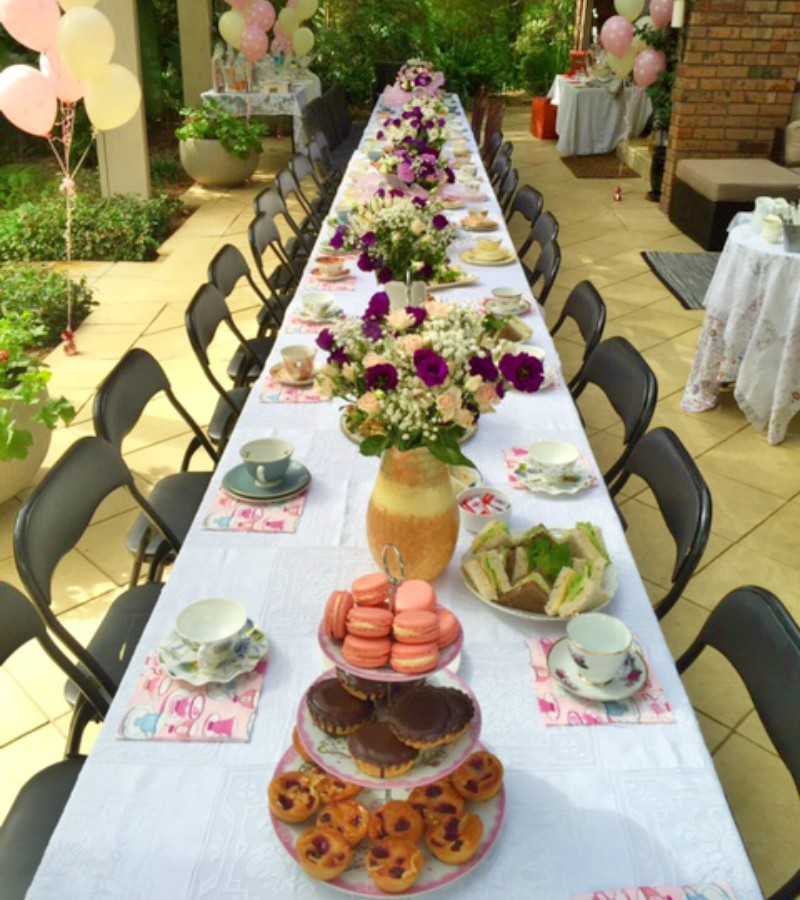 The table ready for the morning tea organised by former patient Snezana Drazic.