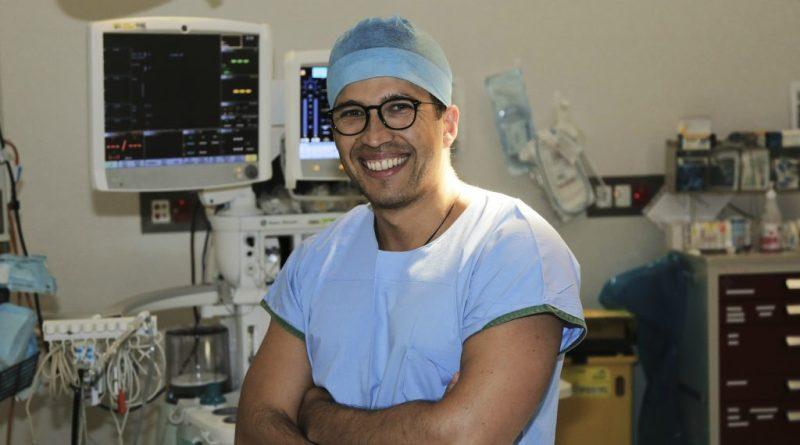 Surgical registrar Oleksandr Khoma.