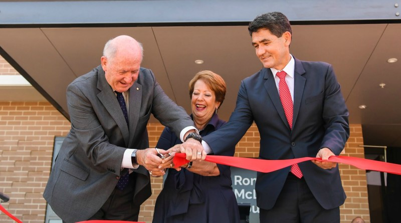 Ronald McDonald House officially opened with ribbon cutting.