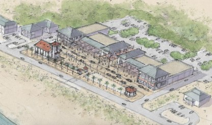 A conceptual rendering of a town center in Perdido Key along Perdido Key Drive. (Special to the Pulse)
