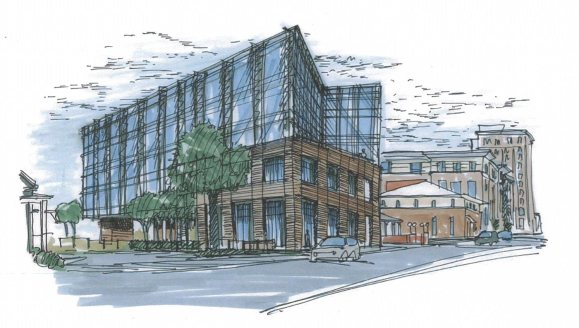 Artist renderings of the original building proposed by Hixardt in 2011. (City of Pensacola/Special to the Pulse)