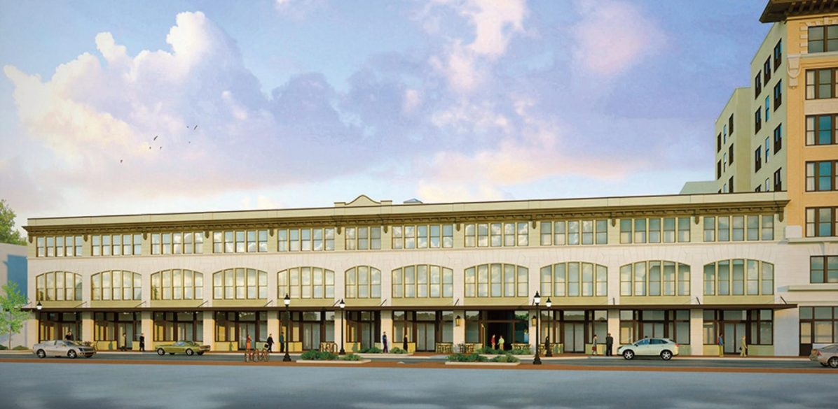 Rendering of downtown Pensacola's historic Brent Building, currently under renovation as part of the One Palafox Place project. (One Palafox Place/Special to The Pulse)