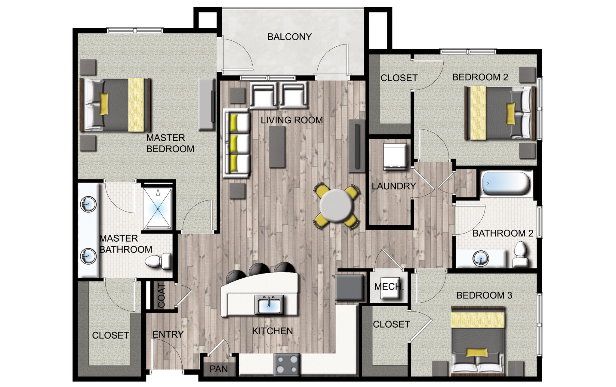 See the apartment floor plans for Studer's downtown