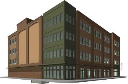 Northeast approach to the new Studer office building. (City of Pensacola/Special to The Pulse)